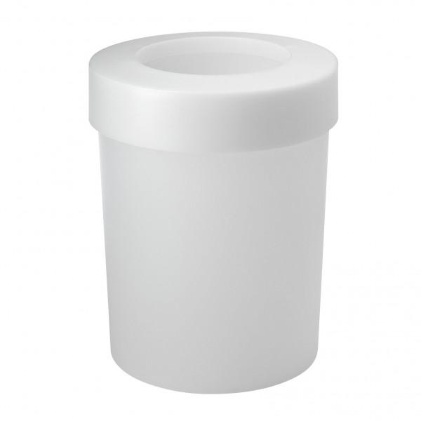 Authentics CAP Papierkorb weiß transluzent