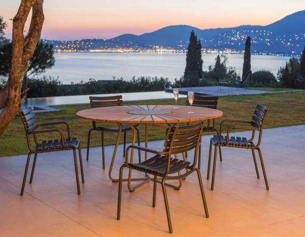 Houe Clips Set Tisch Circle 150cm mit 5 Stühlen