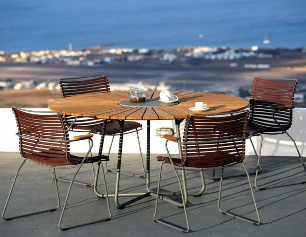 Houe Circle Gartentisch Ø110 cm Set1 mit 4 Stühlen