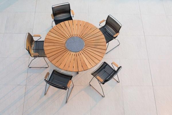 Houe Circle Gartentisch Ø 150 Cm Set 2 Mit 5 Stühlen