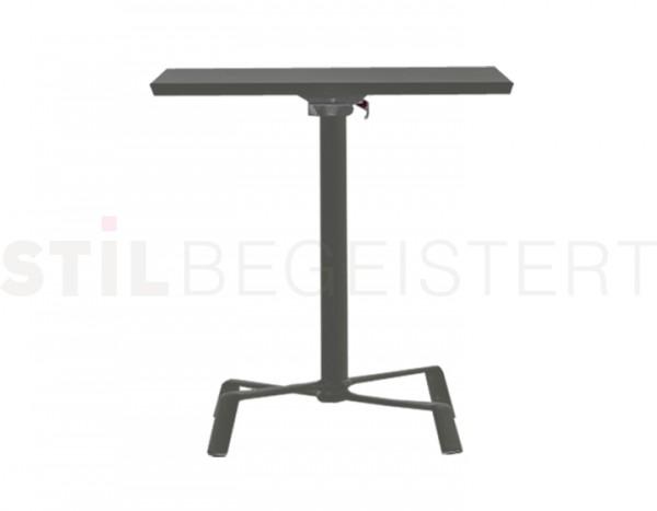 fast Elica Tisch mit Kippmechanismus, quadratisch groß grau-metallic
