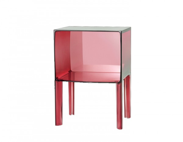 Kartell Ghost Buster Small Kommode Transparent Rot