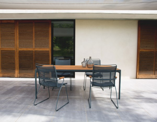 Houe FOUR Set Outdoor-Tisch 210cm+ 4 Stühle Click