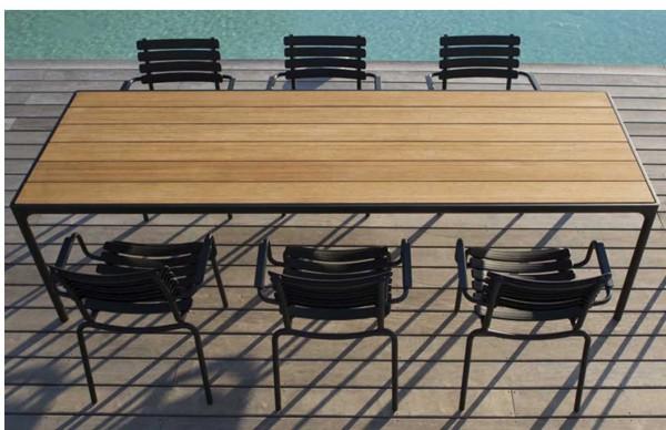 Houe Gartenmöbel Set FOUR Tisch 270cm+ 8 Stühle Clips