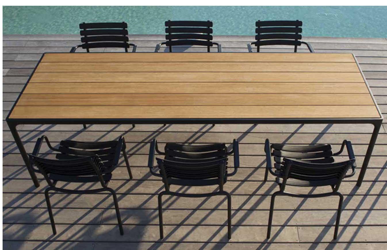 Houe Gartenmöbel Set FOUR Tisch 270cm+ 8 Stühle Clips   Houe   Marken   Balgu   Wohndesign Shop