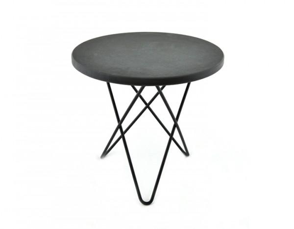 OX Denmark Tall Mini O Table Beistelltisch, schwarz