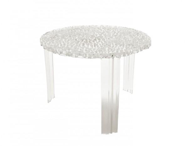 Kartell T-Table Beistelltisch, H 36 cm transparent klar